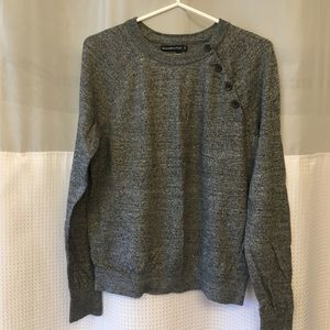 Grey Sweater with Buttons